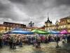 Plaza Mayor,día de mercado, León
